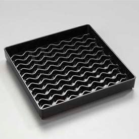 """Carlisle 1102603 Newave Square Drip Tray 6"""", Black Package Count 12 by"""