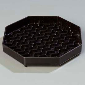"""Carlisle 1103603 Newave Octagon Drip Tray 6"""", Black Package Count 12 by"""