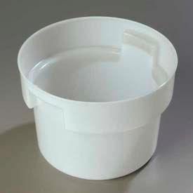Carlisle 120002 - Bains Marie Round Food Storage Container 12 Qt., White - Pkg Qty 6