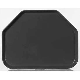 "Carlisle 1713FG004 - Glasteel™ Solid Trapezoid Tray 18"", 14"", 27/32"", Black - Pkg Qty 12"