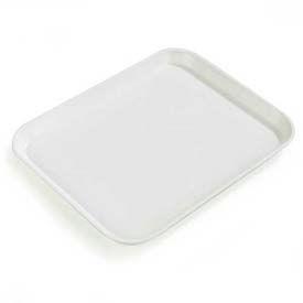 "Carlisle 1814FG001 - Glasteel™ Solid Rectangular Tray 18"", 14"", 3/4"", Bone White - Pkg Qty 12"