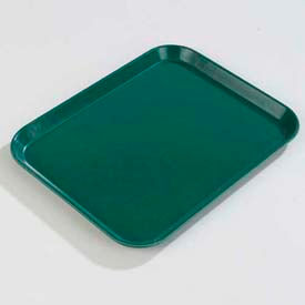 "Carlisle 1814FG010 - Glasteel™ Solid Rectangular Tray 18"", 14"", 3/4"", Forest Green - Pkg Qty 12"