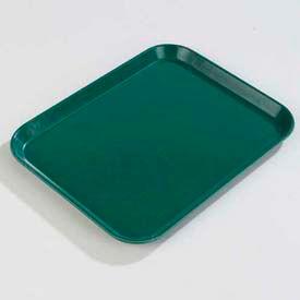 """Carlisle 1814FG010 - Glasteel™ Solid Rectangular Tray 18"""", 14"""", 3/4"""", Forest Green - Pkg Qty 12"""