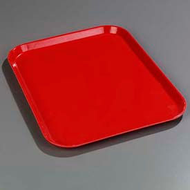 "Carlisle 1814FG017 - Glasteel™ Solid Rectangular Tray 18"", 14"", 3/4"", Red - Pkg Qty 12"