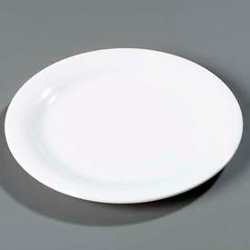 "Carlisle 3300202 - Sierrus™ Dinner Plate, Narrow Rim 10-1/2"", White - Pkg Qty 12"
