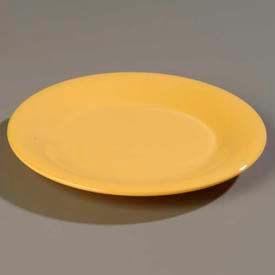 "Carlisle 3302422 Sierrus Dinner Plate, Wide Rim 12"", Honey Yellow Package Count 12 by"