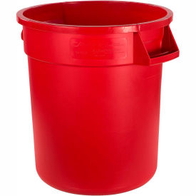 Bronco™ Waste Container 10 Gal - Red - Pkg Qty 6