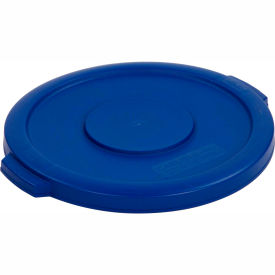 Bronco™ Waste Container Lid 10 Gal. - Blue - Pkg Qty 6