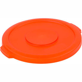 Bronco™ Waste Container Lid 10 Gal. - Orange - Pkg Qty 6