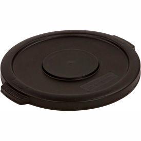 Bronco™ Round Waste Container Lid 20 Gallon - Black 34102103 - Pkg Qty 6