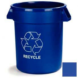 Bronco™ 341032REC14 Recycling Waste Container 32 Gallon - Blue - Pkg Qty 4