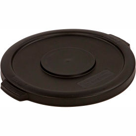 Bronco™ Round Waste Container Lid 32 Gallon - Black 34103303 - Pkg Qty 4