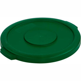 Bronco™ Waste Container Lid 32 Gal - Green - Pkg Qty 4
