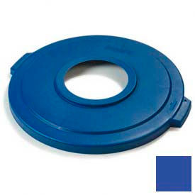Bronco™ 44 Gal Recycle Lid - Blue - Pkg Qty 6