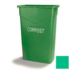 Trimline™ Recycling Waste Container 23 Gal - Green - Pkg Qty 4