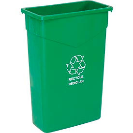 Carlisle® Trimline™ Recycling Can 23 Gallon 342023REC09, Green