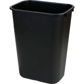 Office Waste Basket 13-5/8 Qt - Black - Pkg Qty 12
