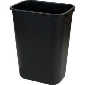 Carlisle Small Rectangle Office Wastebasket Trash Can 13 Quart, Black - 34291303 - Pkg Qty 12