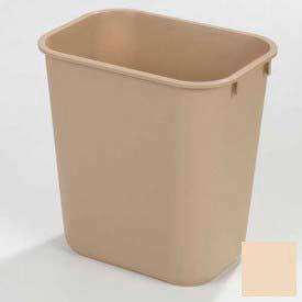 Office Waste Basket 13-5/8 Qt - Beige - Pkg Qty 12