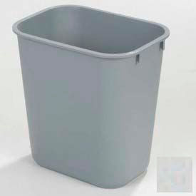 Office Waste Basket 13-5/8 Qt - Gray - Pkg Qty 12