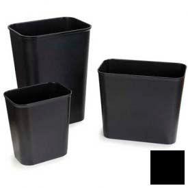 Fire Resistant Wastebasket 14 Qt - Black - Pkg Qty 6