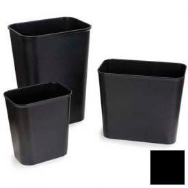 Fire Resistant Wastebasket 28 Qt - Black - Pkg Qty 6