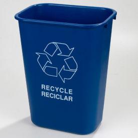 Recycle Wastebasket 41-1/4 Qt - Black - Pkg Qty 12
