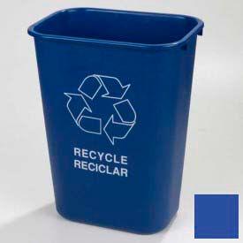 Carlisle Office Recycle Wastebasket 41-1/4 Qt - Blue - Pkg Qty 12