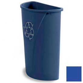 Centurian™ Recycling Half Round Container 21 Gallon - Blue - Pkg Qty 4