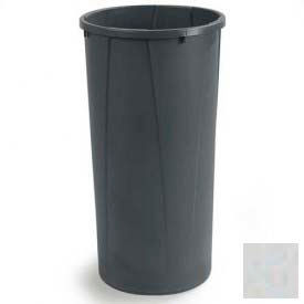 Carlisle Centurian Round Tall Waste Container Trash Can 22 Gallon - Gray - 34312223 - Pkg Qty 4