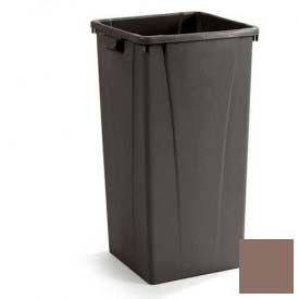 Centurian™ Tall Square Container 23 Gallon - Brown - Pkg Qty 4