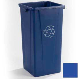 Centurian™ Recycling Tall Square Container 23 Gallon - Blue - Pkg Qty 4