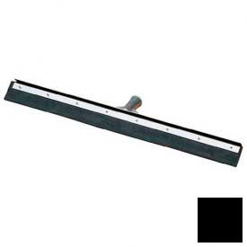 "Flo-Pac® Straight Blade Black Rubber Squeegee W/ Metal Frame 24"" - Black - 361202400 - Pkg Qty 6"