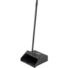 Carlisle Duo-Pan Upright Dustpan w/Metal Handle, Black - 36141003-1