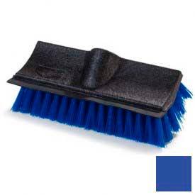 "Flo-Pac® Dual Surface® Poly-P Floor Scrub w/ Rubber Squeegee 10"" - Blue - Pkg Qty 12"