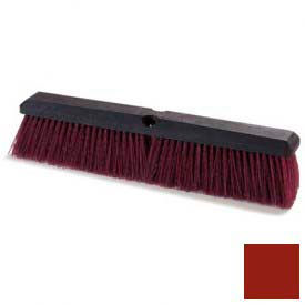 "Flo-Pac® Coarse/Heavy Floor Sweep W/Stiff Polypropylene 18"" - Maroon - Pkg Qty 12"