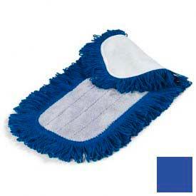 "Microfiber Dry Mop Pad 18"" - Blue - Pkg Qty 12"