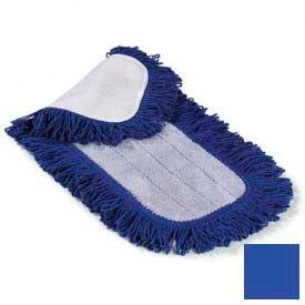 "Microfiber Dry Mop Pad 36"" - Blue - Pkg Qty 12"