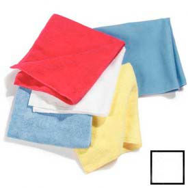 """Terry Microfiber Cleaning Cloth 16"""" X 16"""" - White - 3633402 - Pkg Qty 12"""