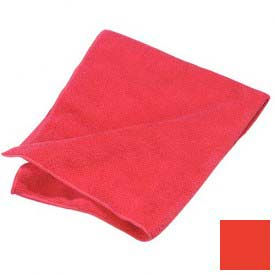 """Terry Microfiber Cleaning Cloth 16"""" X 16"""" - Red - 3633405 - Pkg Qty 12"""