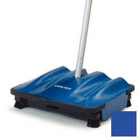 "Carlisle Duo-Sweeper™ Multi-Surface Floor Sweeper 9-1/2"" - Blue - 3639914"