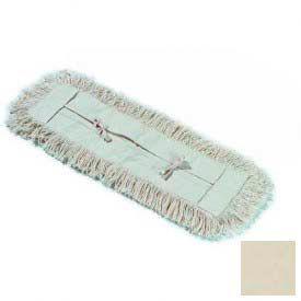 """Flo-Pac® Tie Back Dust Mop 36"""" X 3"""" - Tan - Pkg Qty 12"""