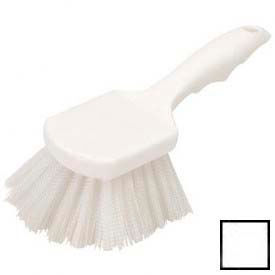 "Flo-Pac® Utility Scrub Brush With Nylon Bristles 8"" - White - Pkg Qty 12"