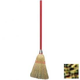 """3-Stitch Lobby Broom With Blended Corn, 9# Fill 40"""" - Pkg Qty 12"""