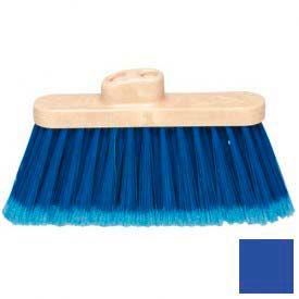 "Flo-Pac® Wide Duo Sweep® Warehouse Broom Head 4"" Bristle Trim - Blue - Pkg Qty 12"