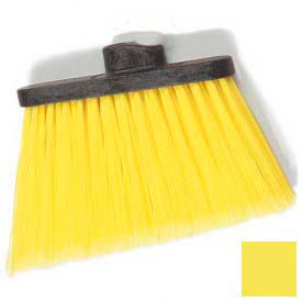 """Duo-Sweep® Medium Duty Angle Broom W/12"""" Flare (Head Only) 8"""" - Yellow - Pkg Qty 12"""