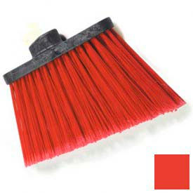 """Duo-Sweep® Medium Duty Angle Broom W/12"""" Flare (Head Only) 8"""" - Red - Pkg Qty 12"""