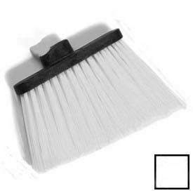 "Duo-Sweep® Heavy Duty Angle Broom W/12"" Flare (Head Only) 8"" - White - Pkg Qty 12"