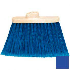 """Flo-Pac Wide Duo Sweep Light Industrial Head (Only) Broom 4"""" Bristle Trim-Blue - Pkg Qty 12"""