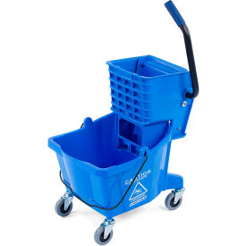 Mop Bucket/Wringer Combo 26 qt - Blue